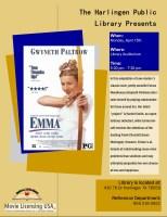 Classic Movie Cinema - Emma @ Harlingen Public Library - Auditorium