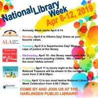 National Library Week Celebration @ Courtyard & Library Auditorium