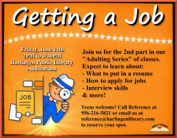 Adulting Series - Getting a Job @ Harlingen Public Library - Auditorium