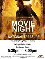 "NLW: Movie Night ""National Treasure"" @ Harlingen Public Library - Conference Room"