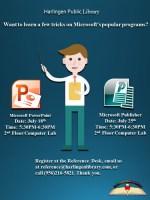 Microsoft Publisher Basics @ Harlingen Public Library - Nonfiction Computer Lab