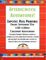 Afterschool Adventures- Zapotec Rug Paintings @ Harlingen Public Library- Children's Auditorium