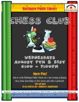 Chess Club @ Harlingen Public Library- Children's Auditorium