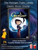 Classic Movie Cinema - Coraline @ Harlingen Public Library - Auditorium