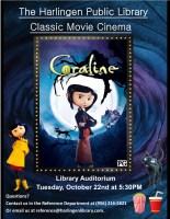 Classic Movie Cinema - Coraline @ Harlingen Public Library - Auditorium