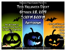 Teen Halloween Event @ Harlingen Public Library - Auditorium