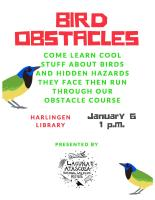 Laguna Atascosa National Wildlife Refuge: Bird Obstacles @ Harlingen Public Library Auditorium