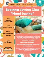Beginner's Sewing: Hand Sewing @ Harlingen Public Library - Quiet Room