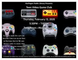 Video Game Club @ Harlingen Public Library- Teen Room