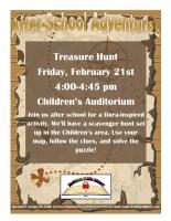 Treasure Hunt After-School Adventures @ Children's Auditorium