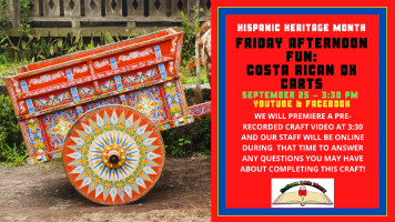 Friday Afternoon Fun: Costa Rican Ox Carts @ Harlingen Public Library Facebook Page