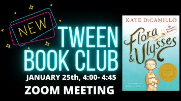Tween Book Club @ HarlingenPublic Library Zoom
