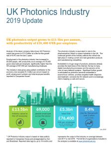 UK Photonics Industry Update Summary