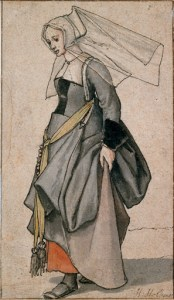 Holbein study of a young English woman