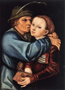 Lucas Cranach, The Peasant and the Prostitute