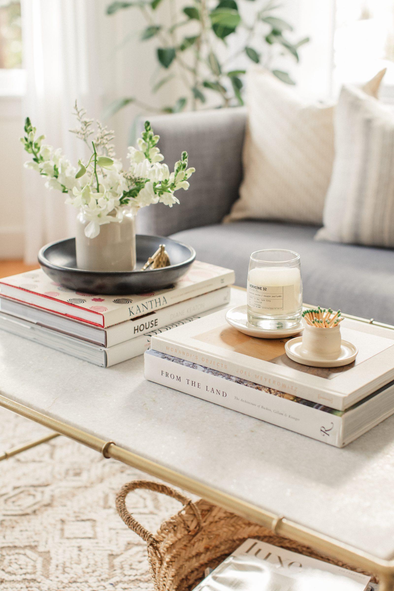 simple coffee table styling harlowe james