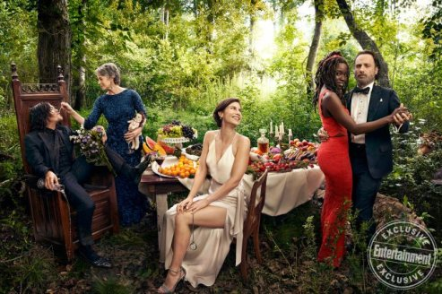 Norman Reedus, Melissa McBride, Lauren Cohan, Danai Gurira and Andrew Lincoln, from the cast of The Walking Dead photographed exclusively for Entertainment Weekly by Art Streiber on June 24th. 2017 in Senoia Georgia. Styling: Elaine Montalvo Prop Styling: John Sanders Costumers: Mia Nunnally, Derrick Vener