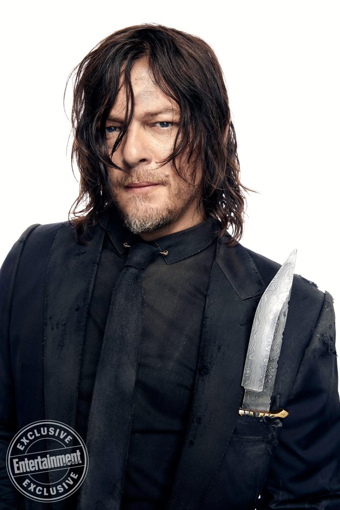 Norman Reedus, from the cast of The Walking Dead photographed exclusively for Entertainment Weekly by Art Streiber on June 24th. 2017 in Senoia Georgia. Styling: Elaine Montalvo Prop Styling: John Sanders Costumers: Mia Nunnally, Derrick Vener