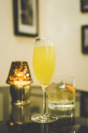 The Old Sport — Saffron infused vodka, lemon juice and elderflower syrup topped with prosecco