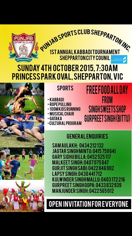 1st Annual Kabbadi Tournament Shepparton