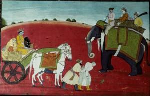 Miniature_Painting,_Krishna_releases_the_defeated_Rukmi,_Guler_style,_1770,_Chamba_Museum,_Himachal_Pradesh,_India