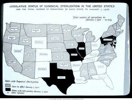 Eugenics US map