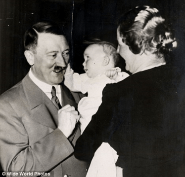 Hitler ear tugged by his god-daughter Edda Goering
