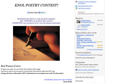 Knol Poetry Contest by skakos