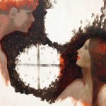 Attention is energy in this oil painting of two lovers just met.