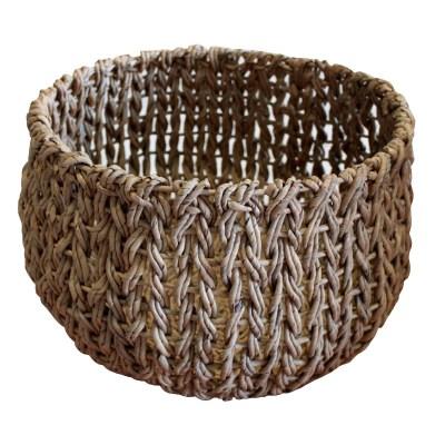 HOB1779, round belly basket, bahan banana, fitrit size diatop.42 cm, diabase26 cm,dia,belly 46,5cm, h.31cm