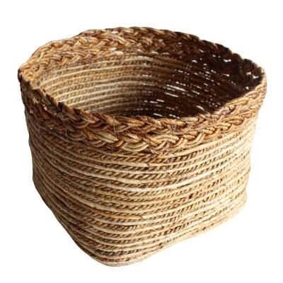 HOB1759, braided basket, bahan banana size topdia.45cm, base 36x36cm, H.30cm