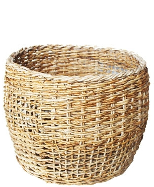 HOB2048 S Banana round basket in nat