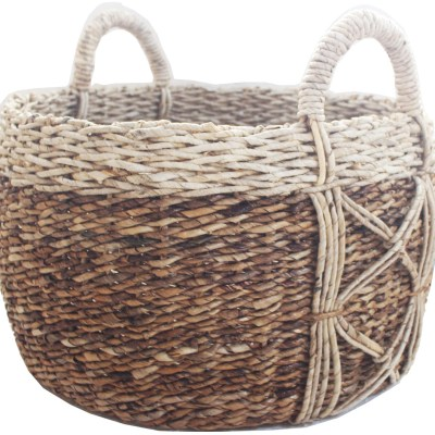 HOB2171 Banana belly basket with accent XX