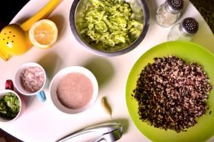 Black Rice, Quinoa, Zucchini Cakes Ingredients(CSC_0895)
