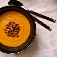 Curried Coconut, Carrot & Millet Soup