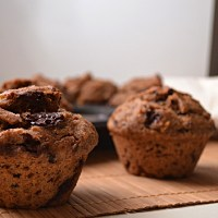 Banana, Chocolate & Tahini Muffins