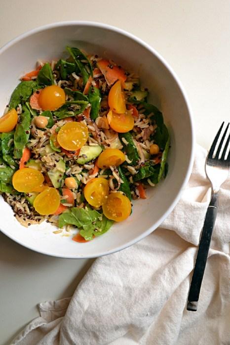 Brown Basmati Rice Salad w Tangy Miso Dressing (DSC_0402)