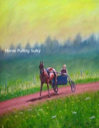 Horse-Pulling-Sulky-on-PEI-Red-Dirt-Track-Kris-Taylor-Art copy