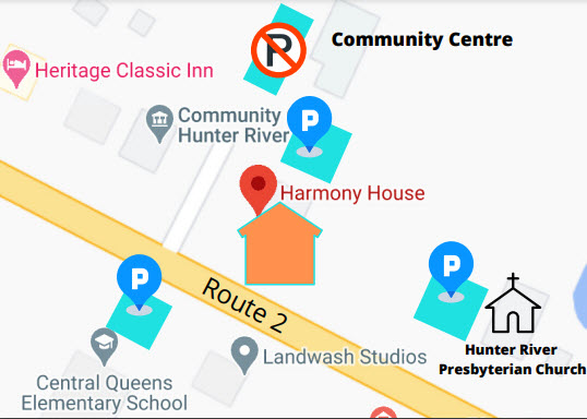 Harmony House parking locations