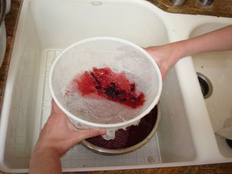 grapes - using cheesecloth