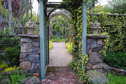 Freeland Tanner-Garden Designer-Napa-Garden Decor-Bespoke Garden Decor-antique garden tools-archway