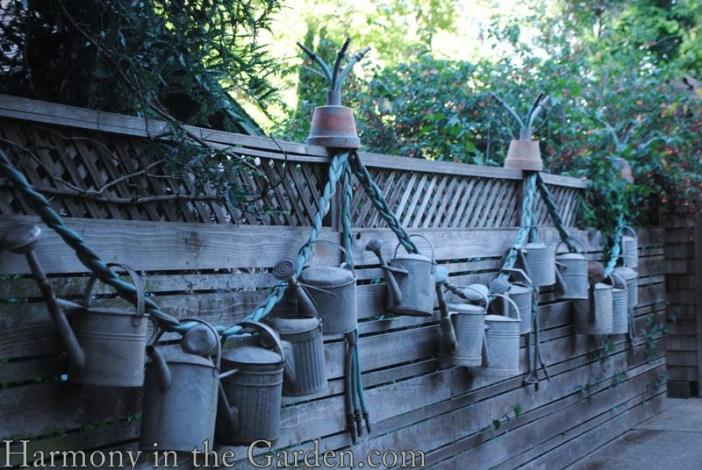 Freeland Tanner-Garden Designer-Napa-Garden Decor-Bespoke Garden Decor-garden temple-garden outbuilding-garden art-watering cans-garden hose art