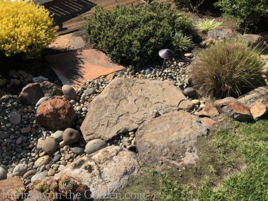 awkward space transformations-northern california-garden design-slopes-tiers-dry creek