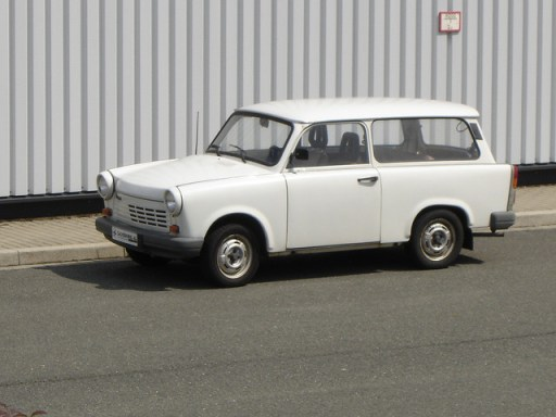 The fabled East German automobile was manufactured in Zwickau, came in limited models, and being made from Duroplast, was the first automobile made entirely from recycled material.