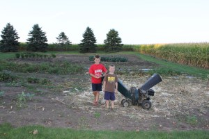 By the end of September the majority of the garden was cleaned out. We told the boys if we worked hard that weekend, that the following weekend we could do something fun as a family.