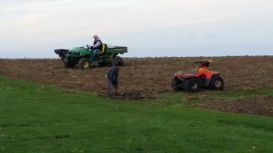 We then worked the ground, seeded it with a ryegrass cover crop, dragged and packed the soil. Thank you to our neighbors the Peterson and Beckman families for their assistance in accomplishing these tasks.