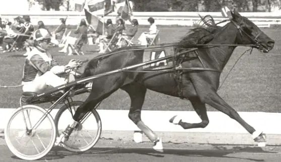 Billy Haughton and his first Hambletonian winner Christopher T
