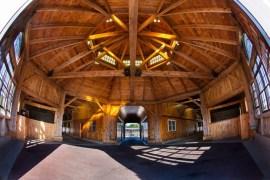 Inside the octagon barn.