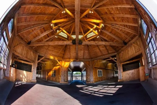 Lindy Farms' octagonal barn makes an indelible first impression. | Dave Landry