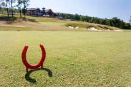 At GreatHorse, the tee boxes are horse shoes.